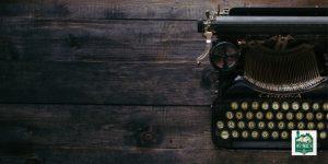 typewriter on a table