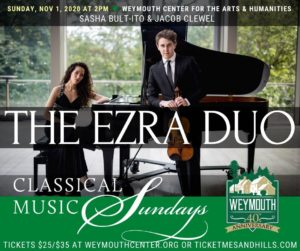 Classical Music Sundays - THE EZRA DUO - live music at Weymouth