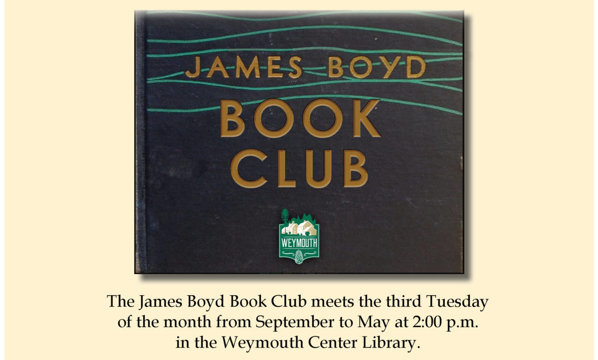 James Boyd Book Club graphic