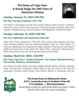 Cape Fear Lecture Series: Part III (New date to be announced)