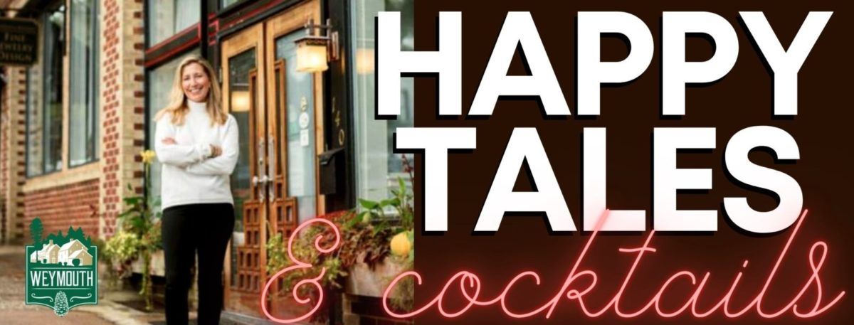 Happy Tales & Cocktails logo with Ashley Van Camp
