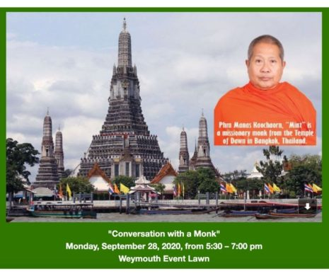 Conversation with a Monk, Monday, Sept 28 at 5:30pm
