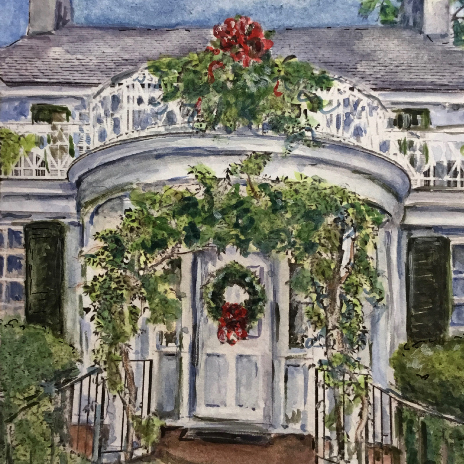 Weymouth entrance at holidays. Painted by Ellen Burke. 2020